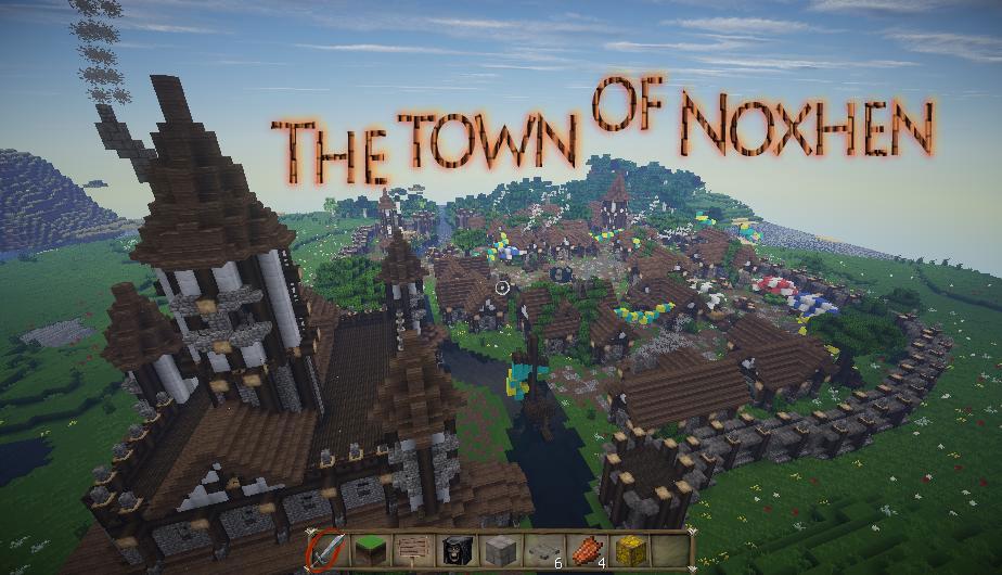The town of Noxhen - средневековый город
