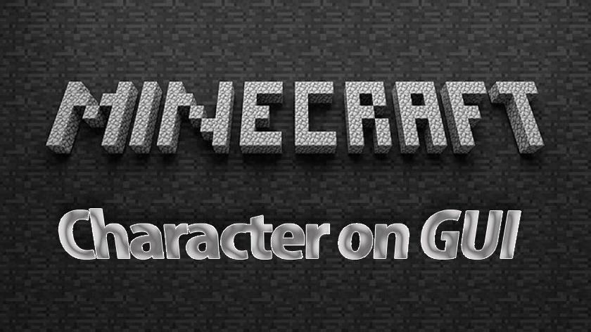 Character On GUI Mod - отображение скина игрока на экране