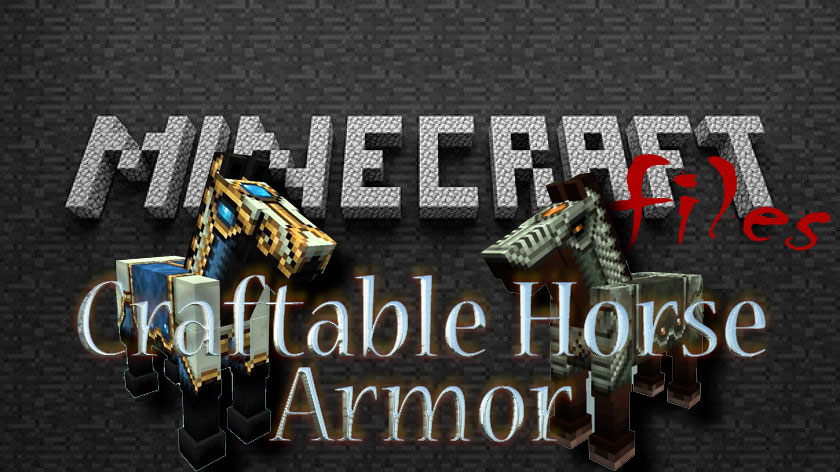 Craftable Horse Armor - броня для лошади