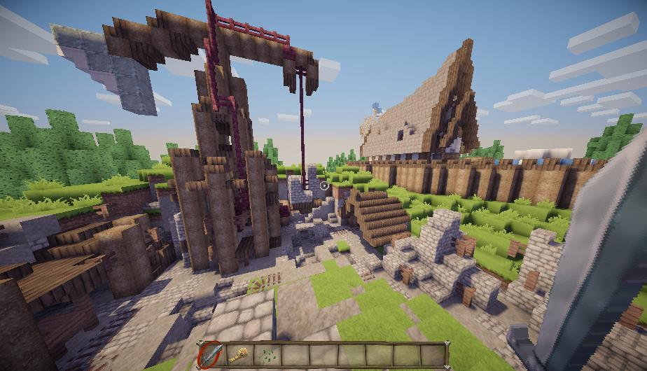 как построить деревню викингов в майнкрафте #4