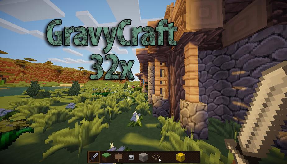 [32x] GravyCraft - легкий ресурс-пак