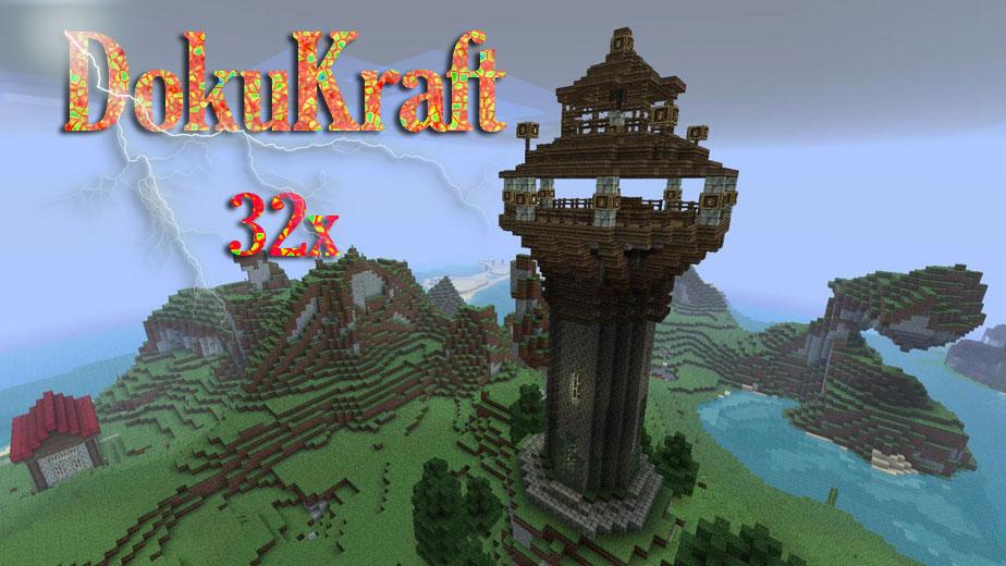 [32x] DokuCraft средневековые текстуры