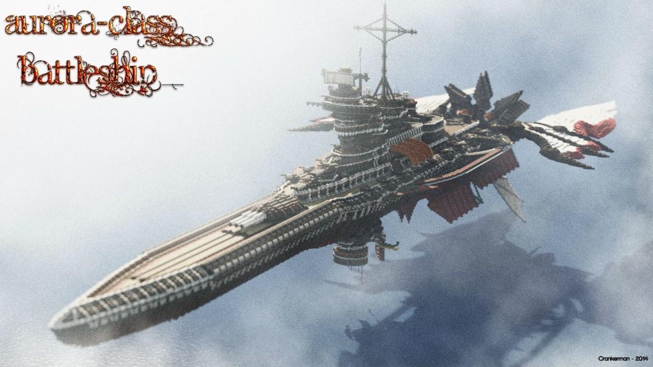 Aurora-Class Battleship - большой космический корабль
