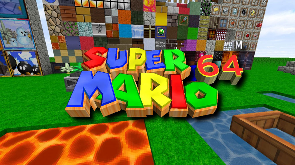 [256x] Mario 64 HD - текстуры в стиле Марио