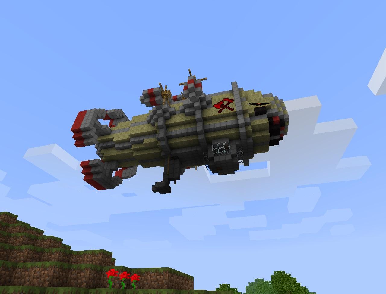 Скачать Aircraft (Zeppelin) мод на самолеты на Майнкрафт 1.5.2/1.6.4/1.7.2/1.7.10