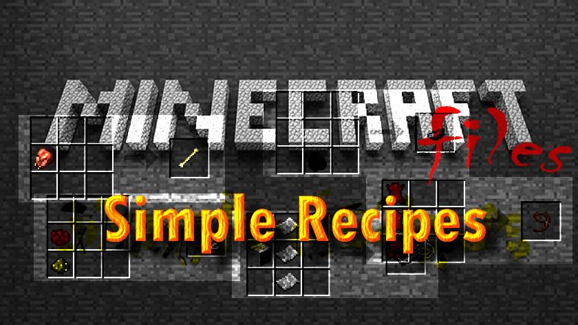 Simple Recipes - нужные рецепты крафта