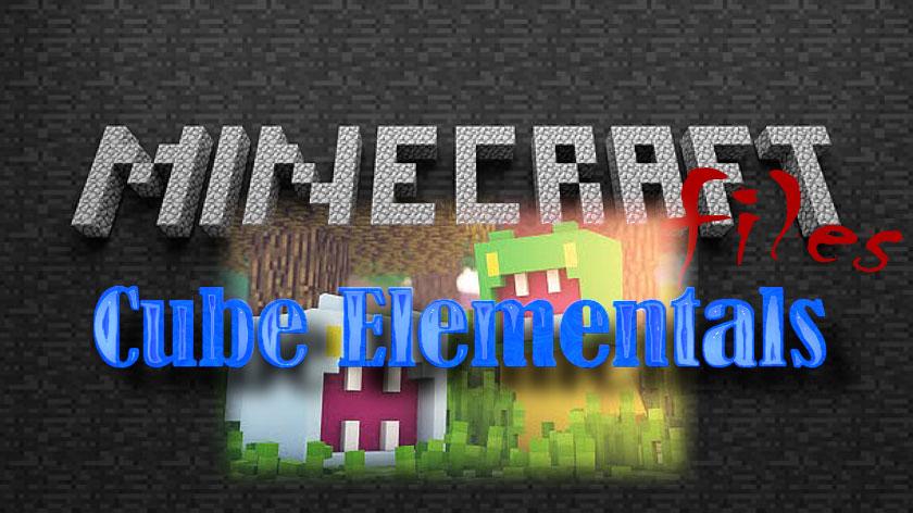 Cube Elementals - мобы кубы и мечи