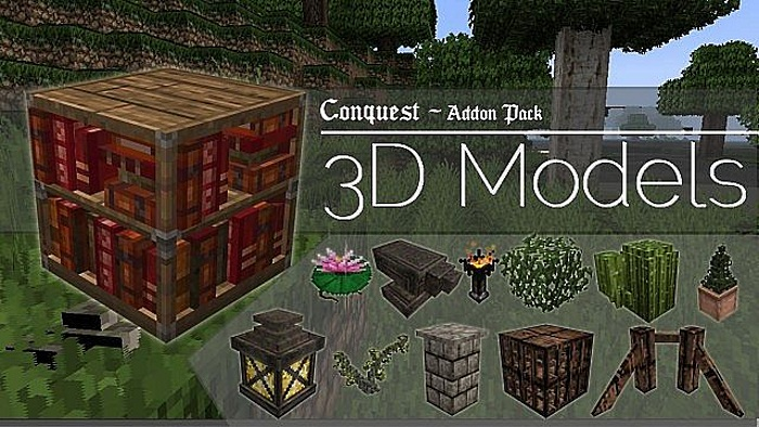 3D модели для ресурс-пака Conquest