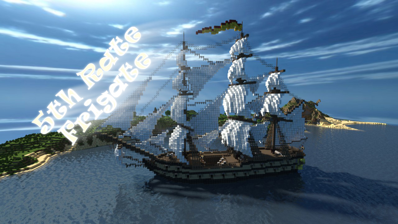5th Rate Frigate - парусный корабль