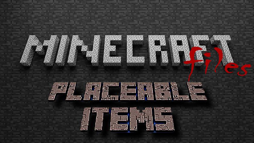 Placeable Items - красиво лежащие вещи