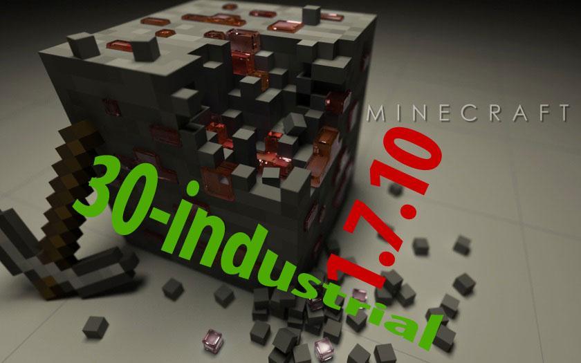 Сборка Майнкрафт 1.7.10 с 30 индустриальными модами