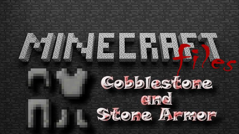 Cobblestone and Stone Armor - каменная броня