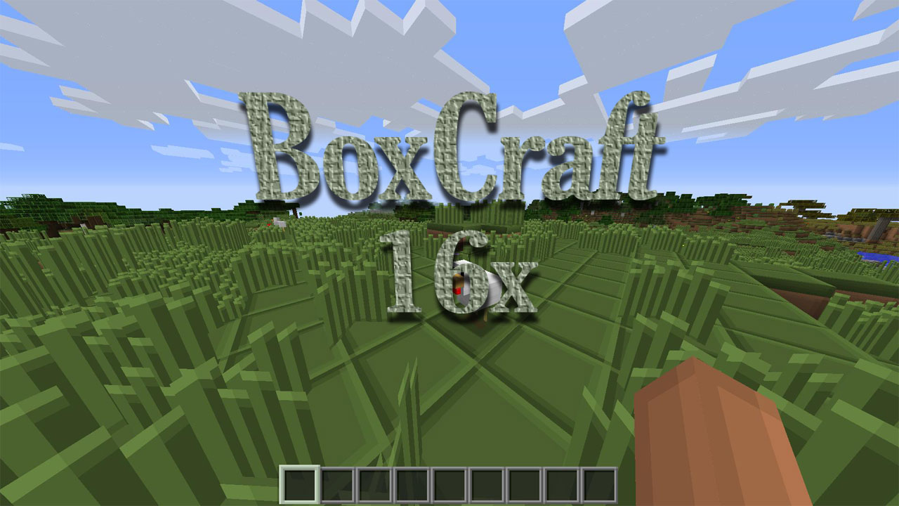 [16x] BoxCraft - кубические текстуры
