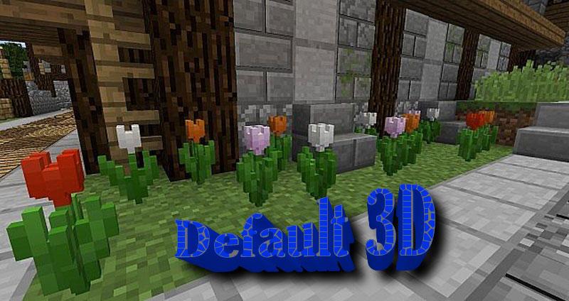 [16x] Default 3D - объемные текстуры