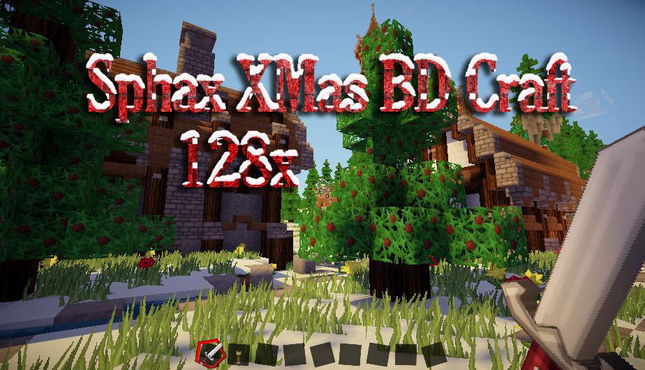 [128x] Sphax X-Mas BD Craft новогодние текстуры