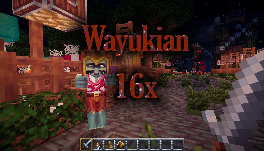 [16x] Ресурс-пак Wayukian страшные текстуры