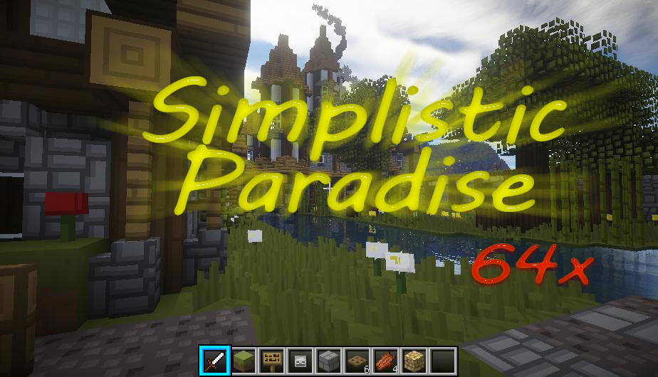 [64x] Simplistic Paradise - мультяшные