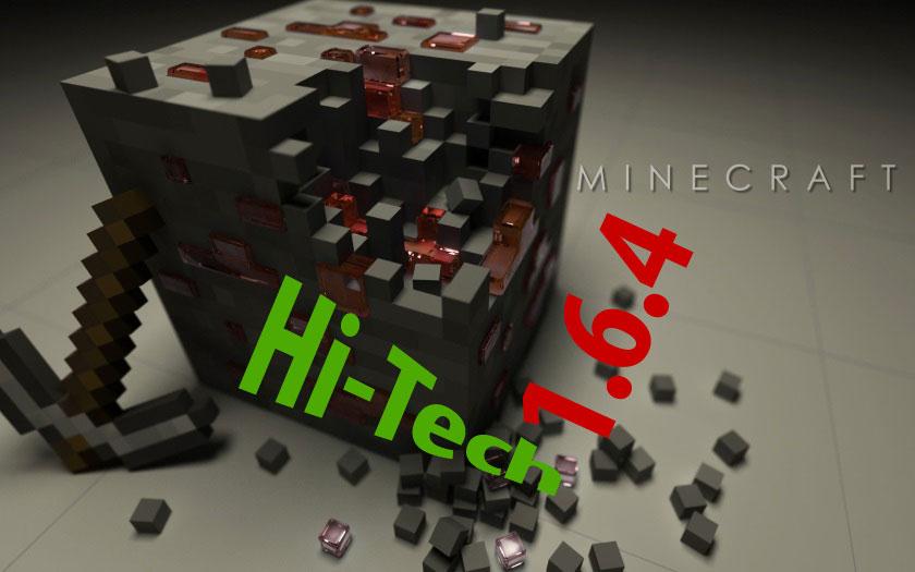 Клиент и сервер 1.6.4 с 25 модами Hi Tech и космос