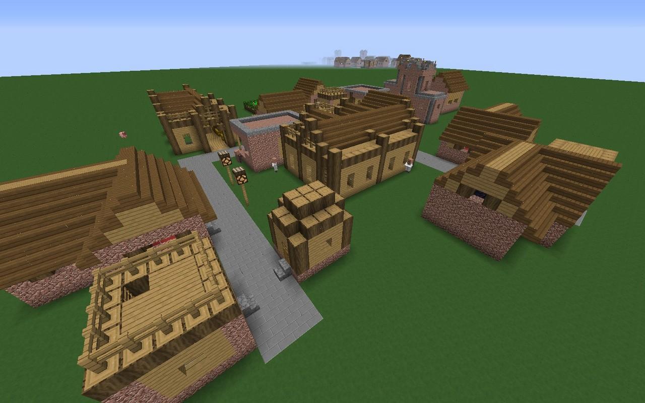 карта деревня для майнкрафт 1.7.10 #4