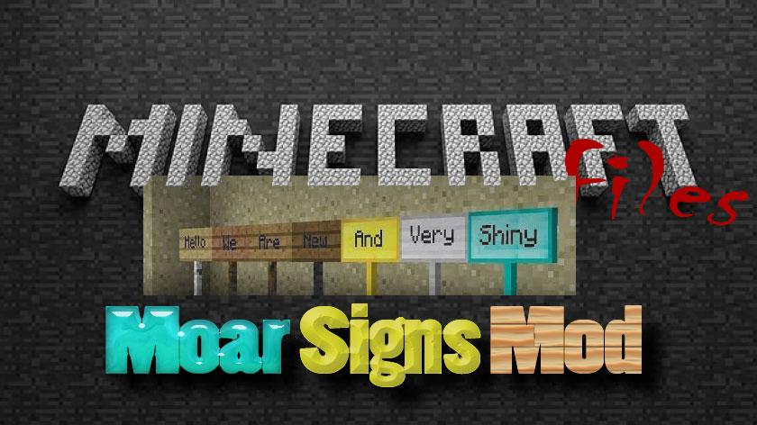 MoarSigns - цветные таблички