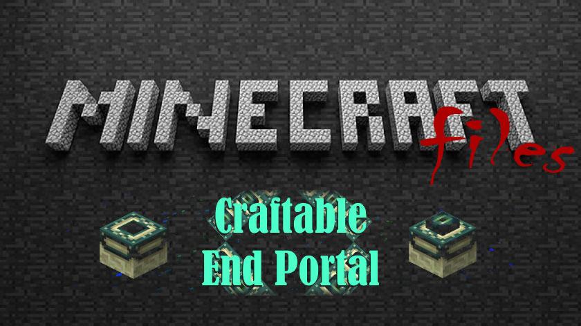 Craftable End Portal - как сделать портал в ад