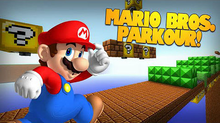 Super Mario Bros - паркур карта в мире Марио