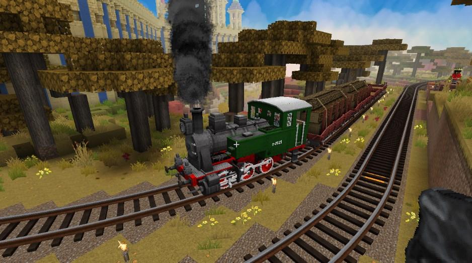 Поезд на майнкрафт