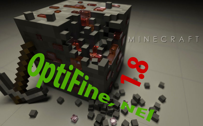 Майнкрафт 1.8 с модами OptiFine, NotEnoughItems