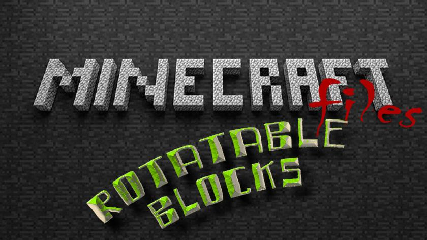 Rotatable Blocks - как повернуть блок в Майнкрафт